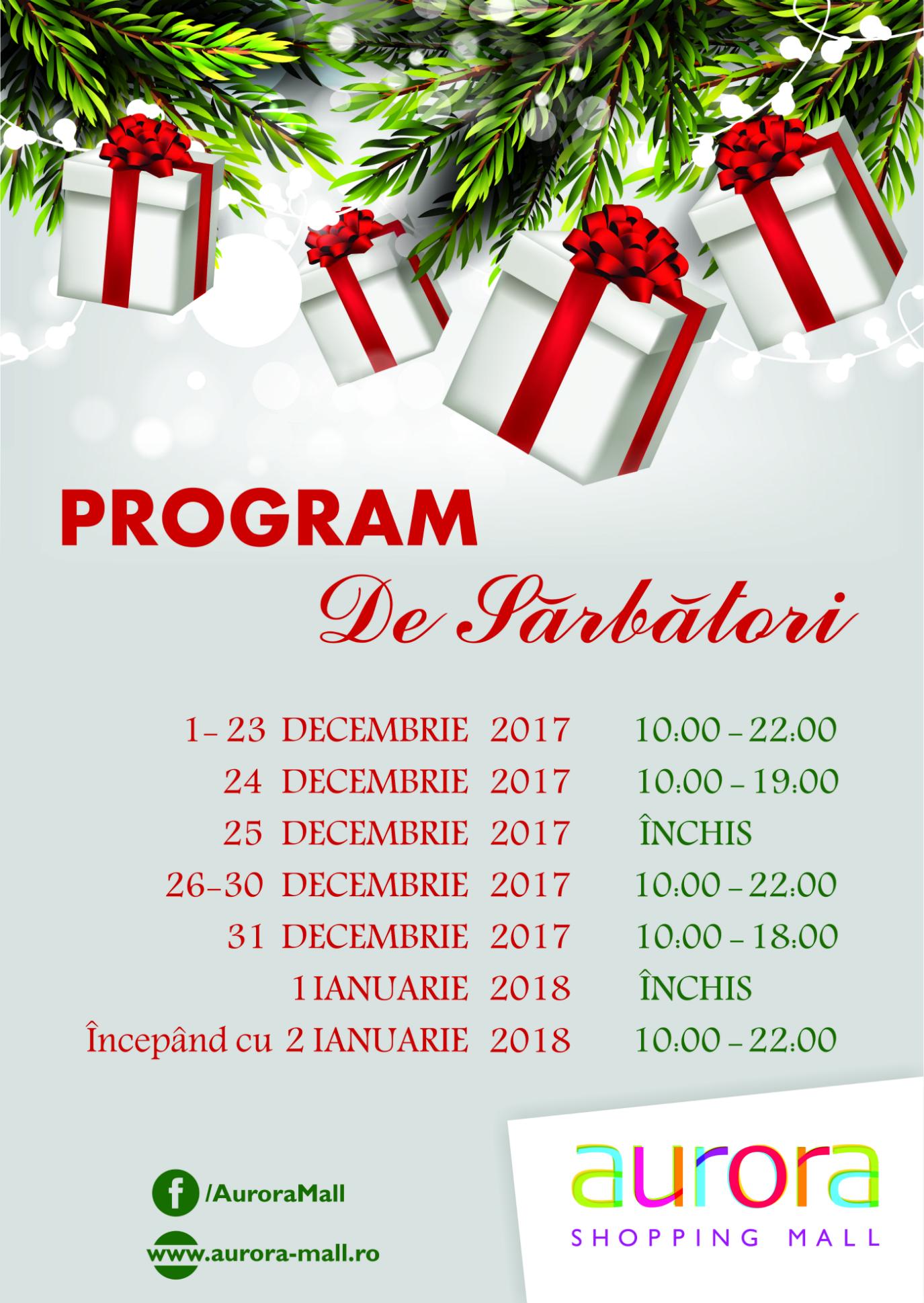 înainte de programul de lucru 24 decembrie